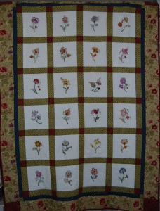 Jacobean Embroidered Quilt by Coleen Goy