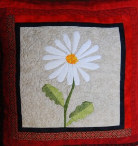 Paper Pieced Daisy Cushion