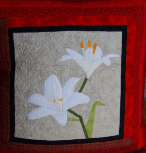 Paper Pieced Lily Cushion